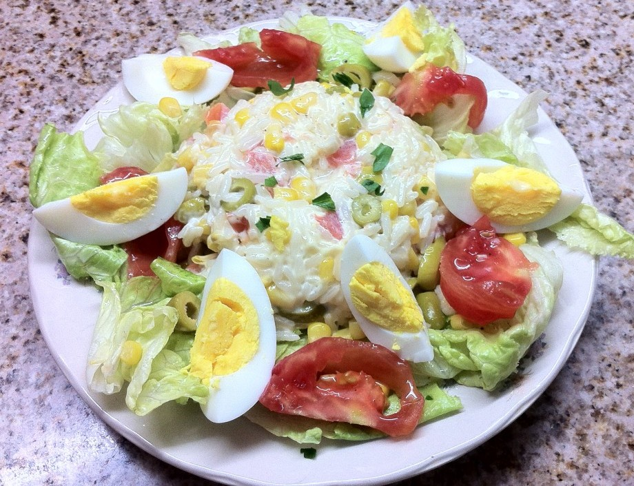 salade verte au riz