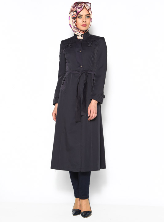 robe manteau bleu