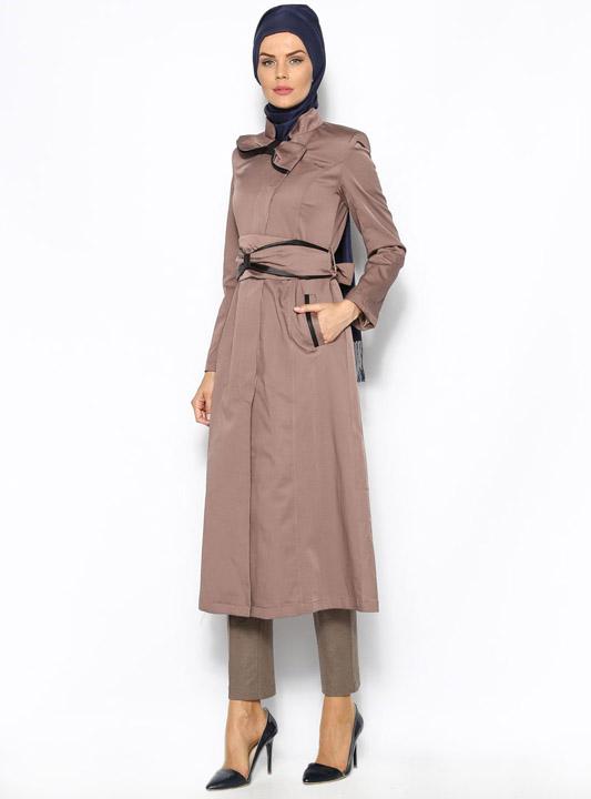 Robe manteau marron