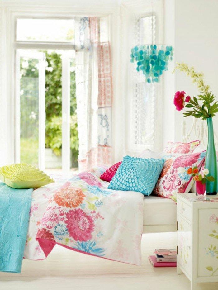 chambre ados jardin et fleurs