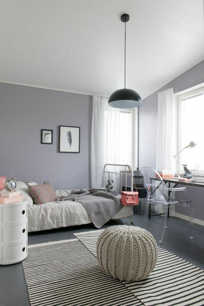 fabulous p os chambre grise design chambre blanc grise violette couleur de chambre peinture with. Black Bedroom Furniture Sets. Home Design Ideas
