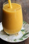 smoothie d'orange,mangue et lait de coco