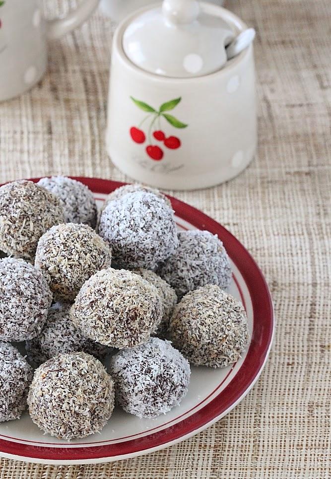 حلوى الشكولاطة و جوز الهند دون طهي