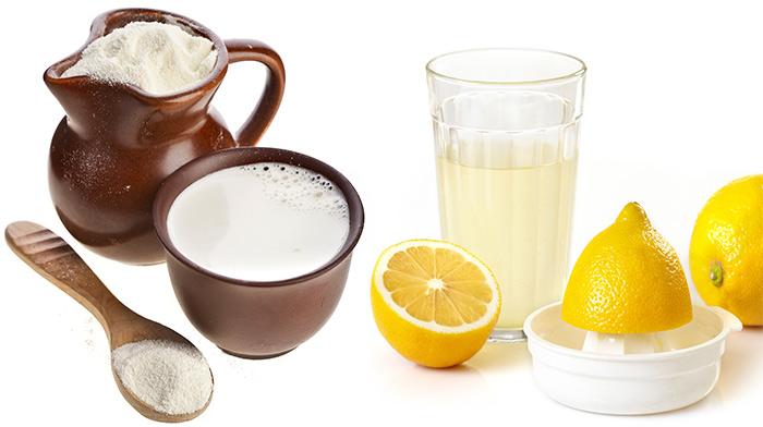 قناع حليب البودرة و عصير الليمون