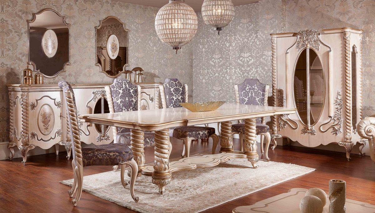 غرف معيشة كلاسيكية باللون الذهبي