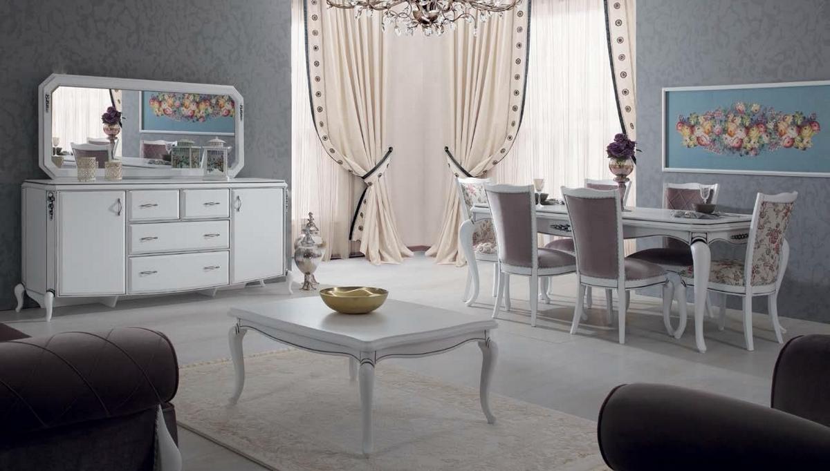 غرفة المعيشة بالخشب و اللون الأبيض و الرمادي