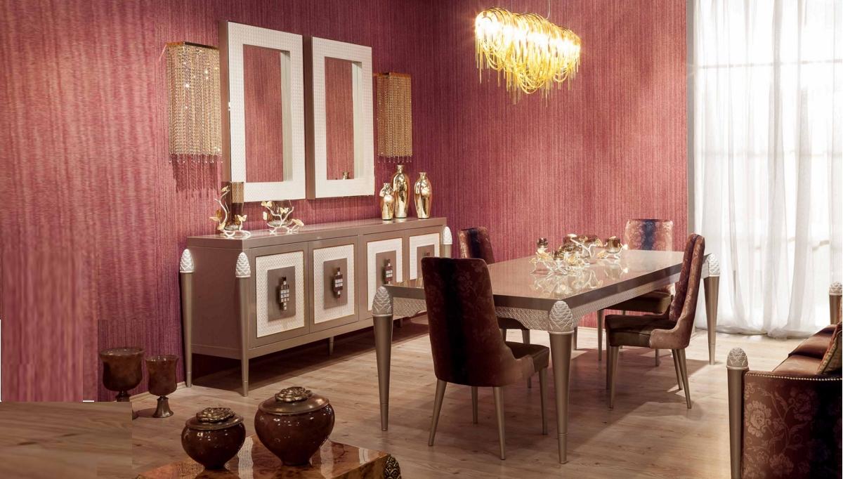 غرف معيشة كلاسيكية باللون الأبيض و الأرجواني