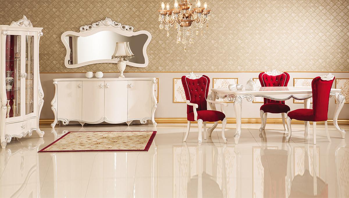 غرفة معيشة عصرية باللون الأبيض و الأحمر