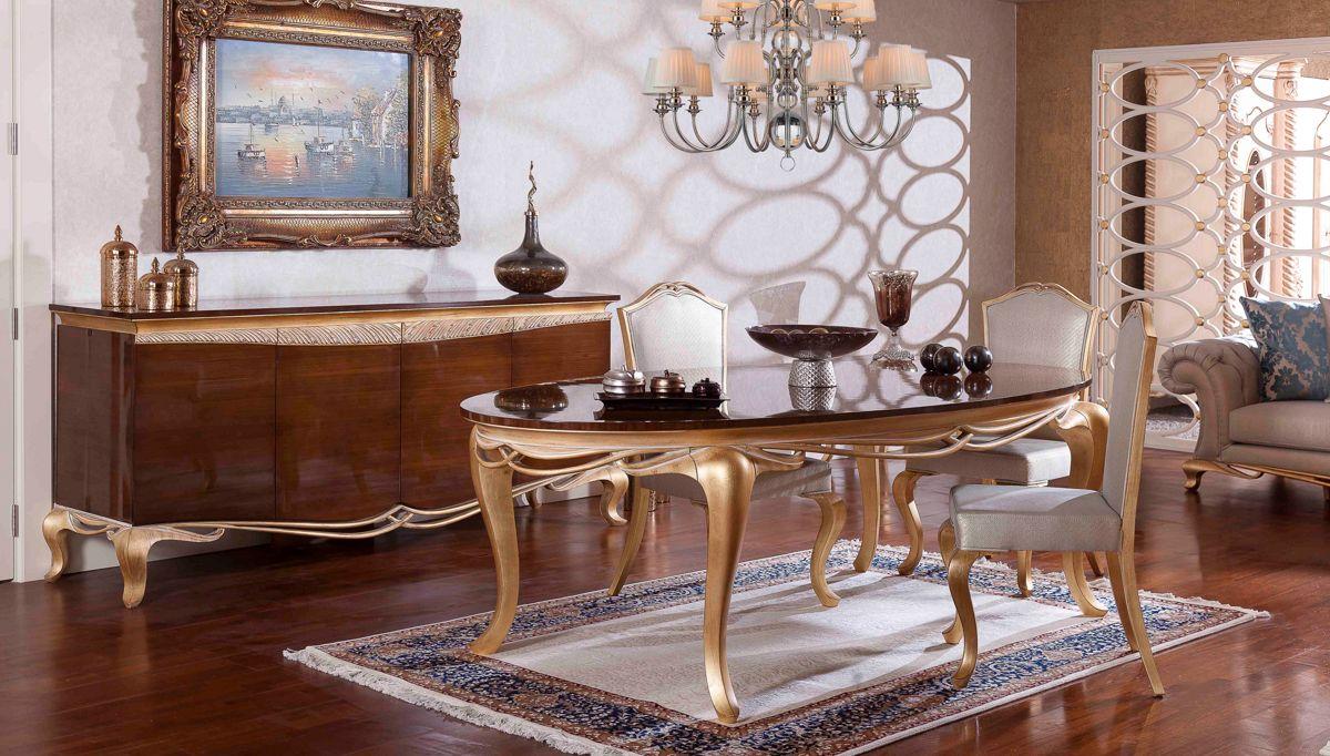 غرفة معيشة عصرية باللون الذهبي و البني