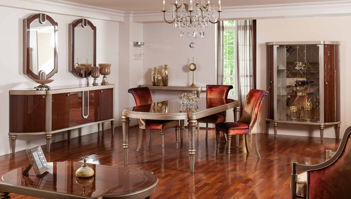 غرفة معيشة كلاسيكية باللون البيج و البني